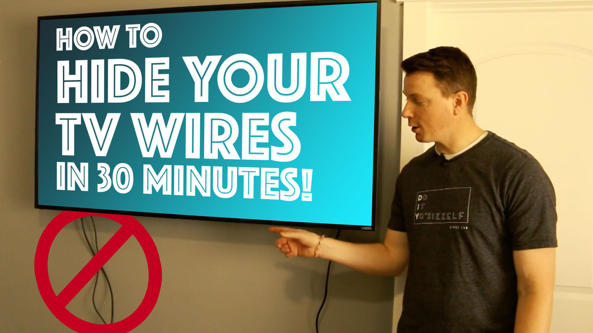 How to Hide Your TV Wires in 30 Minutes