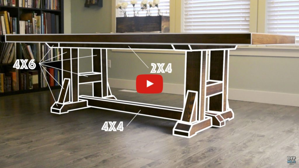 DIY Pottery Barn Inspired Dining Table Video