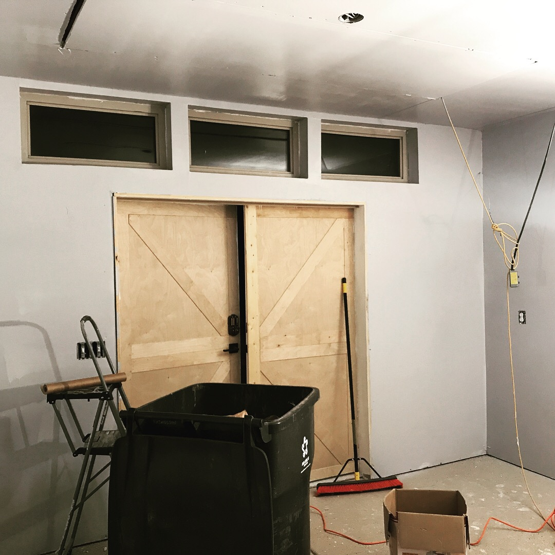 Building a Woodshop From Scratch – Drywall, Mud, Tape, Paint and Epoxy Flooring