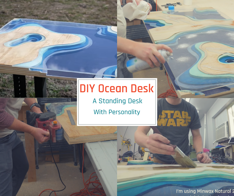 DIY Ocean Desk – A Standing Desk with Personality