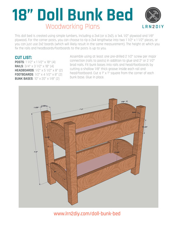 How To Build An American Girl Doll Bunk Bed Diy Home Improvement