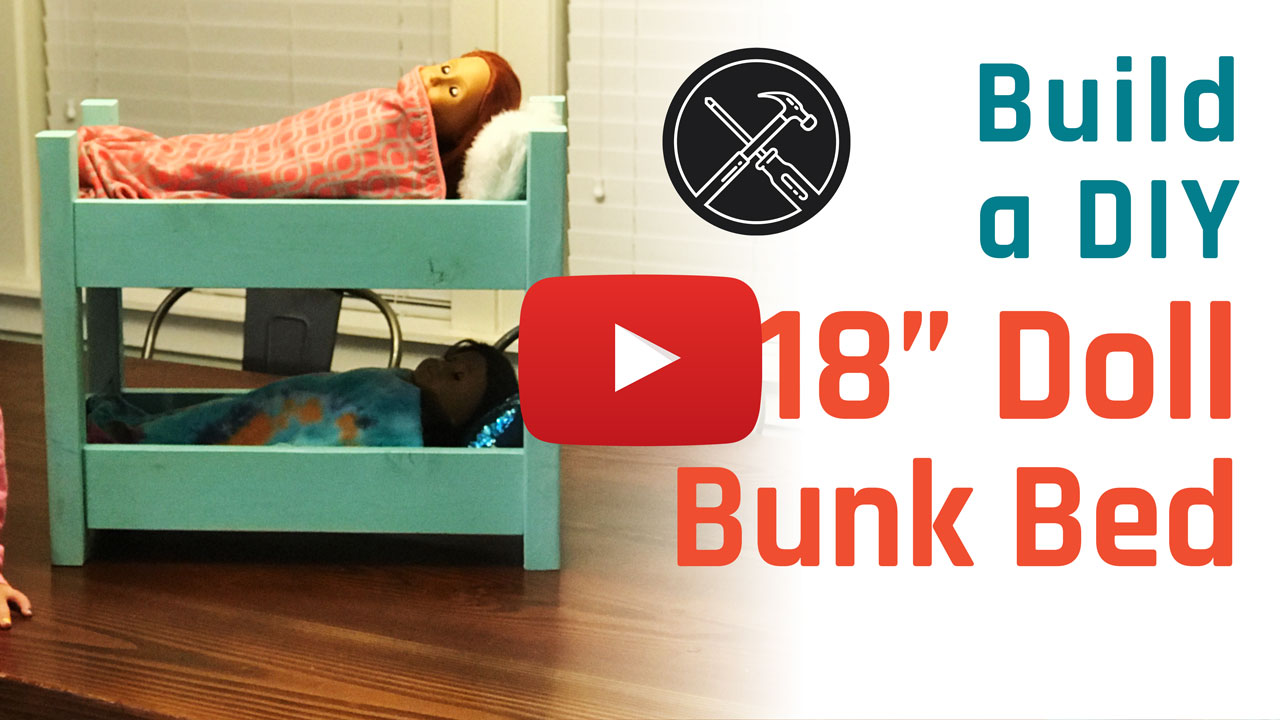 "Build a DIY 18"" Doll Bunk Bed"